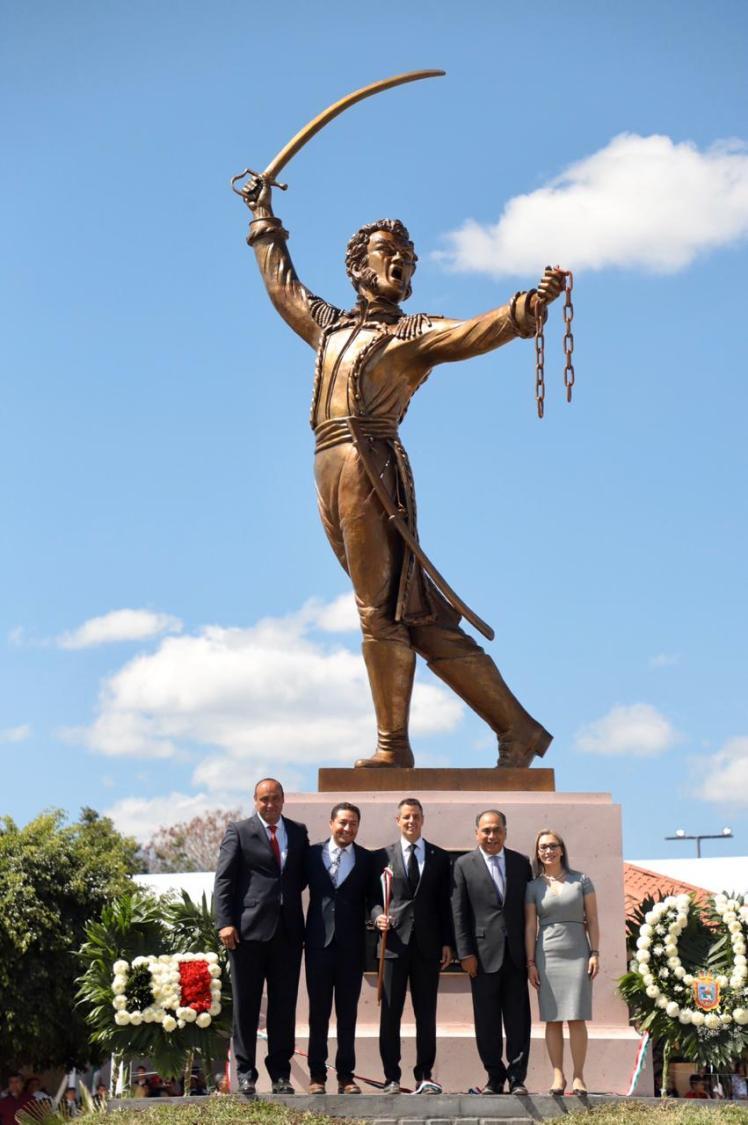 AMH AMH - develacion del monumento del general Vicente Guerrero Saldaña 03